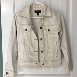 J. Crew White/Ivory Denim Jacket